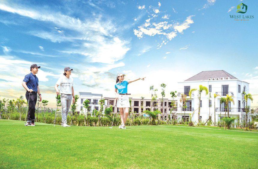 West Lakes Golf & Villas bất động sản nghĩ dưỡng của huyện Đức Hoà