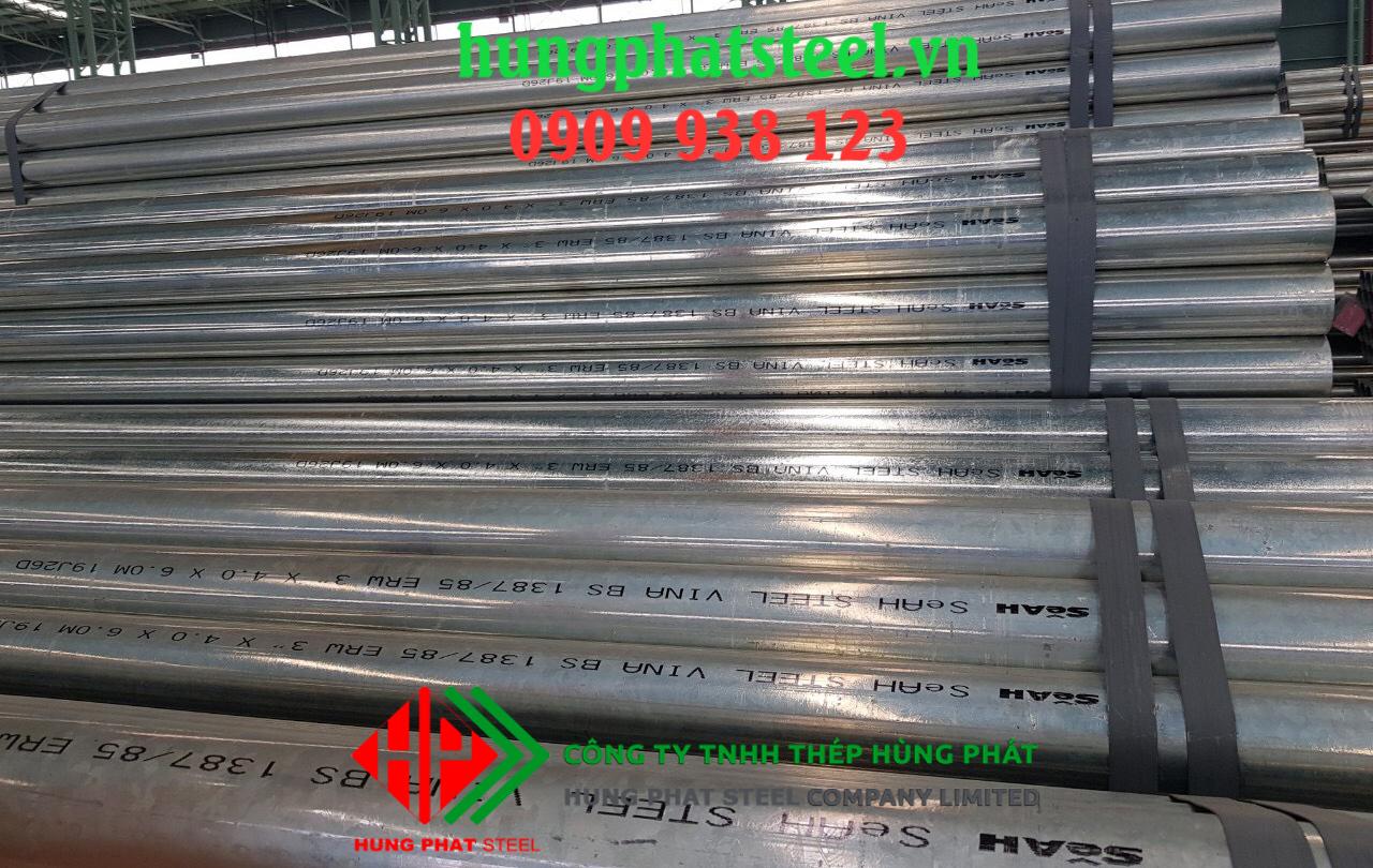 Ống thép mạ kẽm SeAh DN200 Phi 219 độ dày 5.56mm